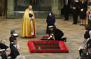 HM The Queen and HRH Duke of Edinburgh at Westminster Abbey [Crown Copyright]