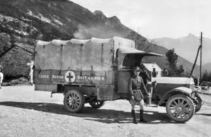 British Red Cross vehicle of WW1