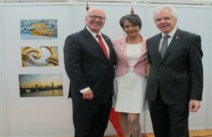 Ambassador, Patrick Mullee, Delegate of the European Union, Peter Schwaiger and his wife, Roxana Calvo