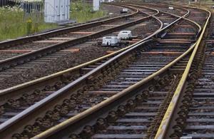 Rail lines.