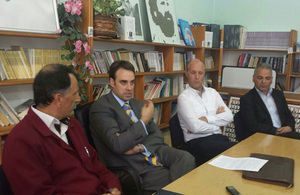 Ambassador O'Connell discussed European values with students at ''Skenderbeu'' Secondary School