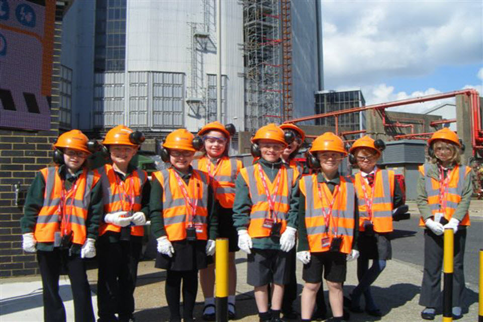Greatland pupils on their visit