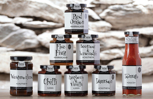 Selection of produce from Hawkshead Relish Company