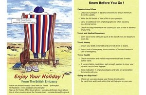 Know Before You Go' Campaign Postcard