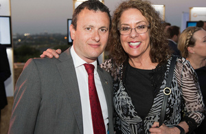 British Ambassador to Israel Matthew Gould with Rachel Carmi
