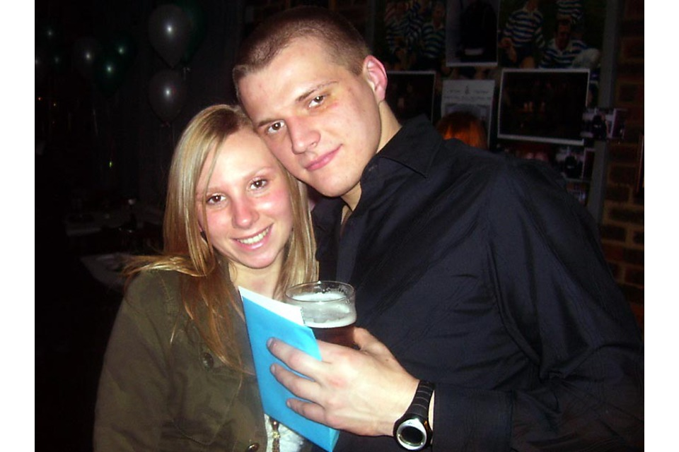 Marine Tom Curry with his girlfriend, Carla (All rights reserved.)