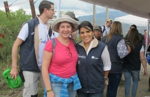 DHM Tina Hamilton and Minister of Environment Lorena Tapia