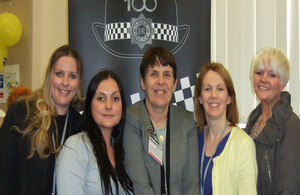 PC Gillian Spence, centre, with other CNC colleagues at the conference