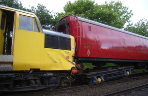 The incident train following the collision