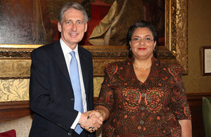 Foreign Secretary and Ghanaian Foreign Minister