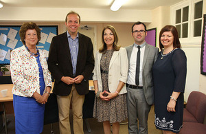 Minister with David Burrowes MP, Members of Board of Deputies and Headteacher
