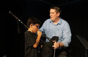 Piper Jason with LeBam musician