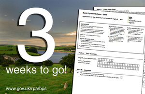 Grapic showing 3 weeks to go to claim BPS