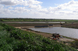Work has been carried out to repair, strengthen and improve the flood banks at Slippery Gowt