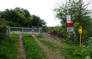 Image showing Frampton level crossing