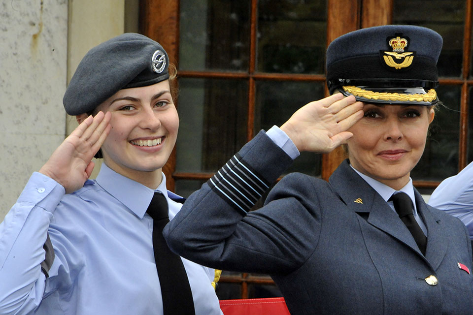 Carol Vorderman salutes for Armed Forces Day