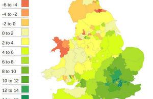 Heat map for HPI April 2015 report