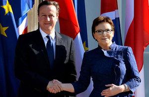 PM meets with Polish PM Ewa Kopacz