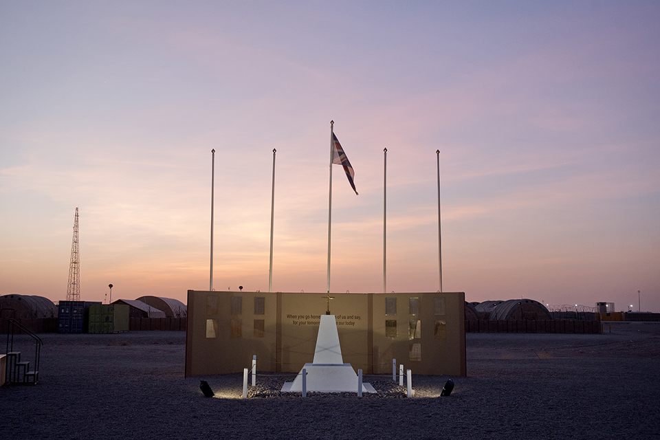 Camp Bastion memorial Wall