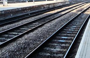 Rail tracks.