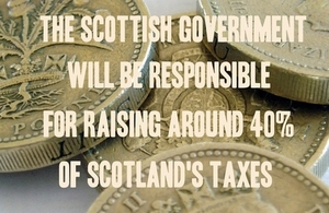 Scottish Govt responsible for raising around 40% of taxes