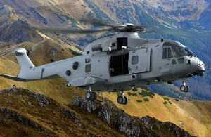 A computer generated image of a Merlin Mark 4 helicopter. ©AgustaWestland/Non-OGL