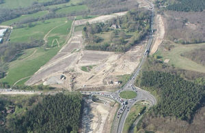 The advance work on the A21 Tonbridge to Pembury nearing completion