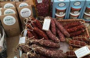 Local Cornish produce at Norton Barton farm