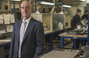 Peter Nicolson, founding director of C4 Carbides, in a busy industrial tooling workshop