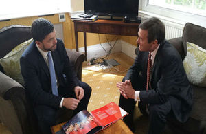 Stephen Crabb, Secretary of State for Wales, meets Roger Lewis, Chairman of Cardiff Capital Region Advisory Board
