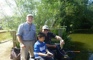 Local residents enjoying fishing