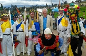 Ambassador Patrick Mullee attended the Corpus Christi cultural celebrations in the district of Amaguana, South of Quito