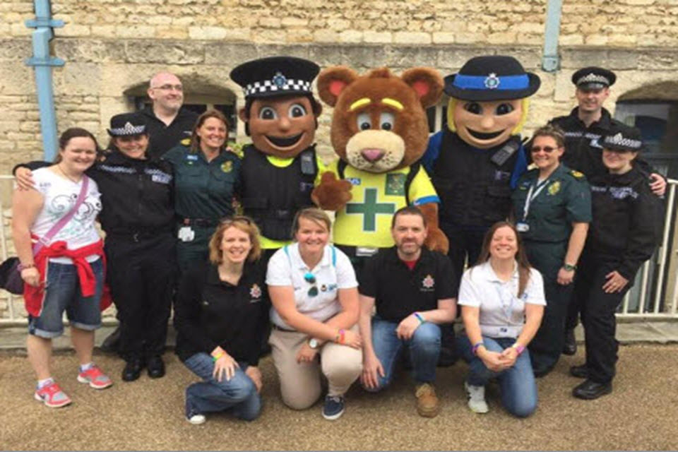 CNC staff with partners at Oxford Pride