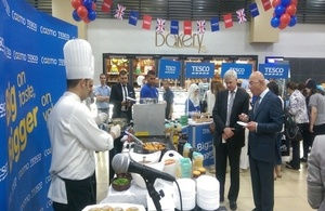 British Ambassador Edward Oakden at the opening of Tesco week at The Group's Cozmo supermarkets