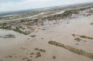 Broken bridges and flooded areas between Bangula and Chigwamafumu, Malawi