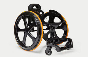 Image of a Carbon Black wheelchair