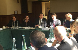 Damian Hinds at the fiscal forum