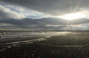 Lowestoft beach (Cefas HQ)