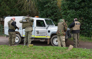 Environment Agency teams preparing for enforcement patrols as part of the clampdown on illegal fishing