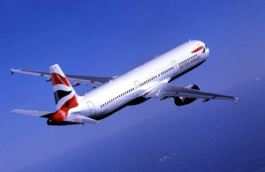 British Airways Airbus A321 in flight