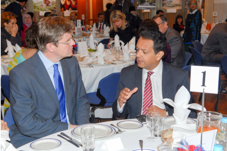 Greg Clark with Amyn Mawji OBE President of the Ismaili Council for the UK