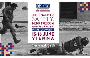 Poster fro OSCE freedom of media conference, June 2015