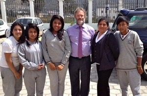 Roy Cross, English Language Specialist, visited Ecuador.