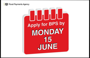 Image of calendar and text 'Apply for BPS Monday 15 June'