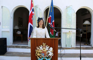 HE Mrs Marianne Young on the occasion of the Queen's Birthday Party in Windhoek