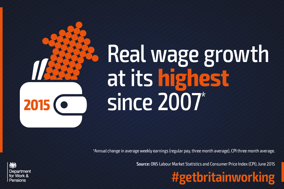 Real wage growth at its highest since 2007