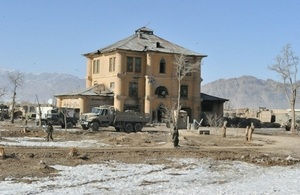 80-year-old building in Afghanistan