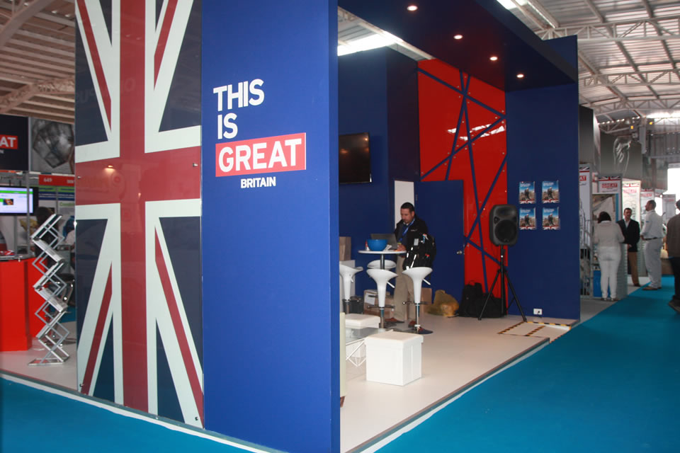 Part of UK Pavilion at Exponor.