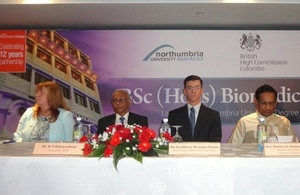 The launch of Degree will help Sri Lanka to train up more professional biomedical scientists.