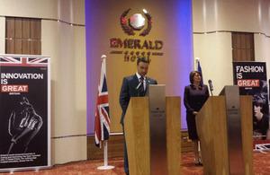 HM Ambassador Ruairí O'Connell and President of Kosovo, Atifete Jahjaga